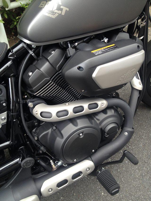 画像: 空冷60度Vツインエンジン。シンプルな造りのボルトでは、このエンジンの魅力が際立ちます。