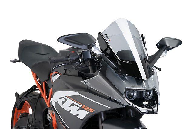 画像: PuigがKTM RC390/250/125用のレーシングスクリーンを発売