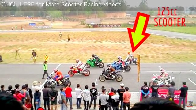 画像1: CBR1000cc VS 125ccのスクーター。結果はいかに?!?!