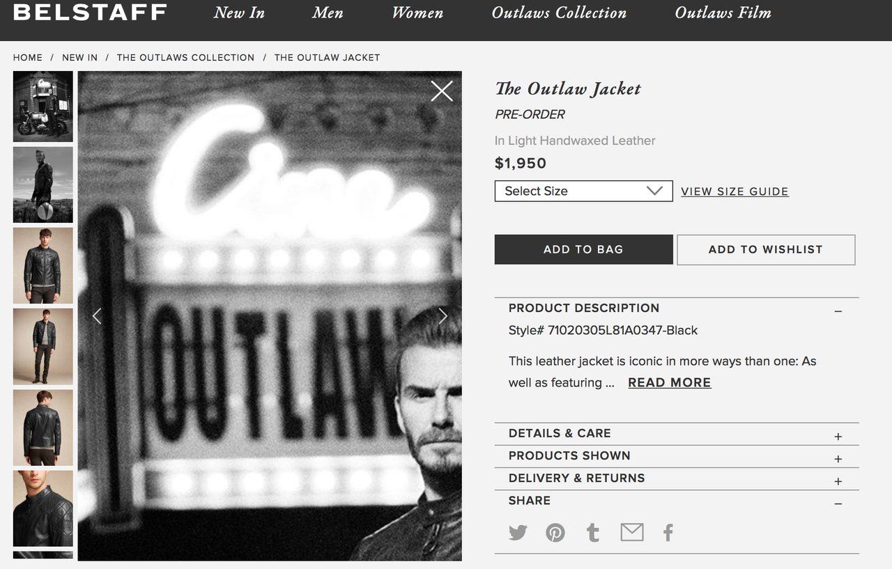 画像: 新レザー:Outlaw Jacket www.belstaff.com