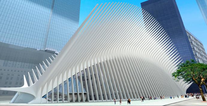 画像: 2015年に完成予定のWorld Trade Center Transportation Hub www.aecom.com