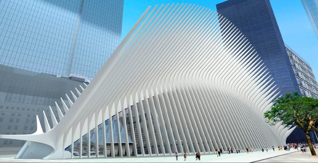 画像: 2015年に完成予定のWorld Trade Center Transportation Hub www.aecom.com