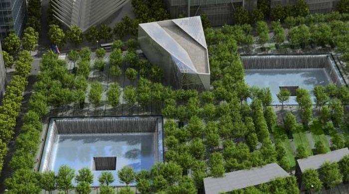 画像: ツインタワーの跡地。現在はMemorial Parkとなっています。 inhabitat.com