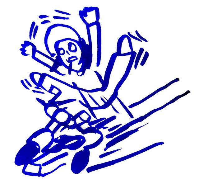 画像: 第2位:平均台から落ちた瞬間アクセルふかしてあわや大惨事