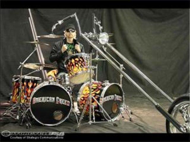 画像: Drummer Mike Mesey Builds Chopper Drum Set - Motorcycle USA