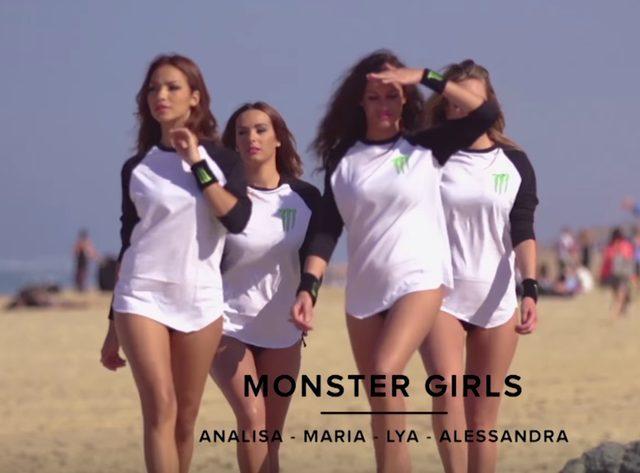 画像: ビーチを闊歩するのは四人のMonter Girls www.youtube.com