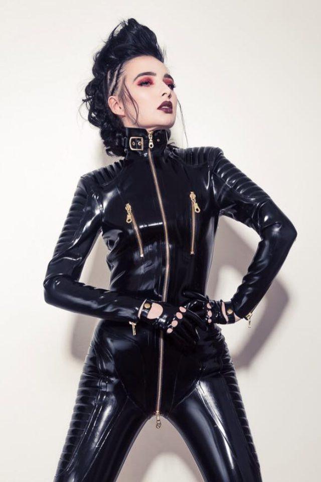 画像: Biker Catsuit from Lacing Lilith Latex London, High quality latex design