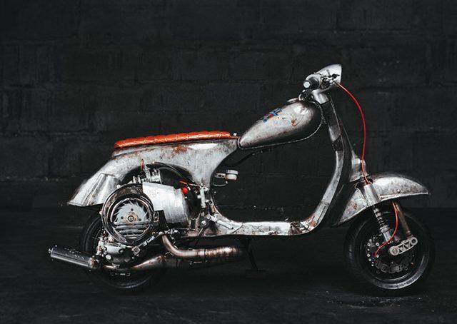 画像: 1966年製のベスパ150 www.butchergarage.com