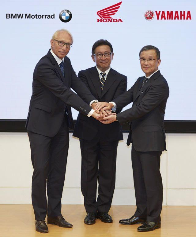 画像: ホンダ、ヤマハ、BMWの3社が二輪車C-ITS実用化で協力