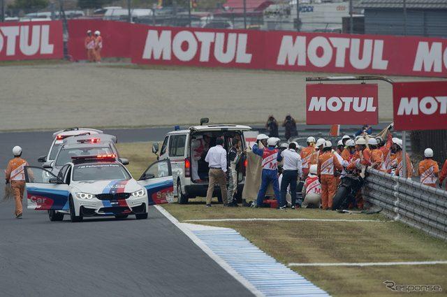 画像: 【MotoGP 日本GP】フリー走行で転倒のデ・アンジェリス、肺挫傷と診断