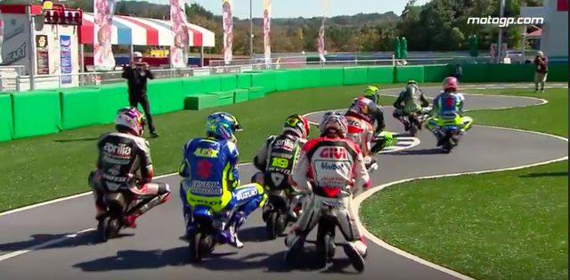 画像: それでも走り出せばやはりレーサーの本能が目覚めます! 前のやつを抜く!という気迫がコース上に炸裂(笑)。 www.youtube.com