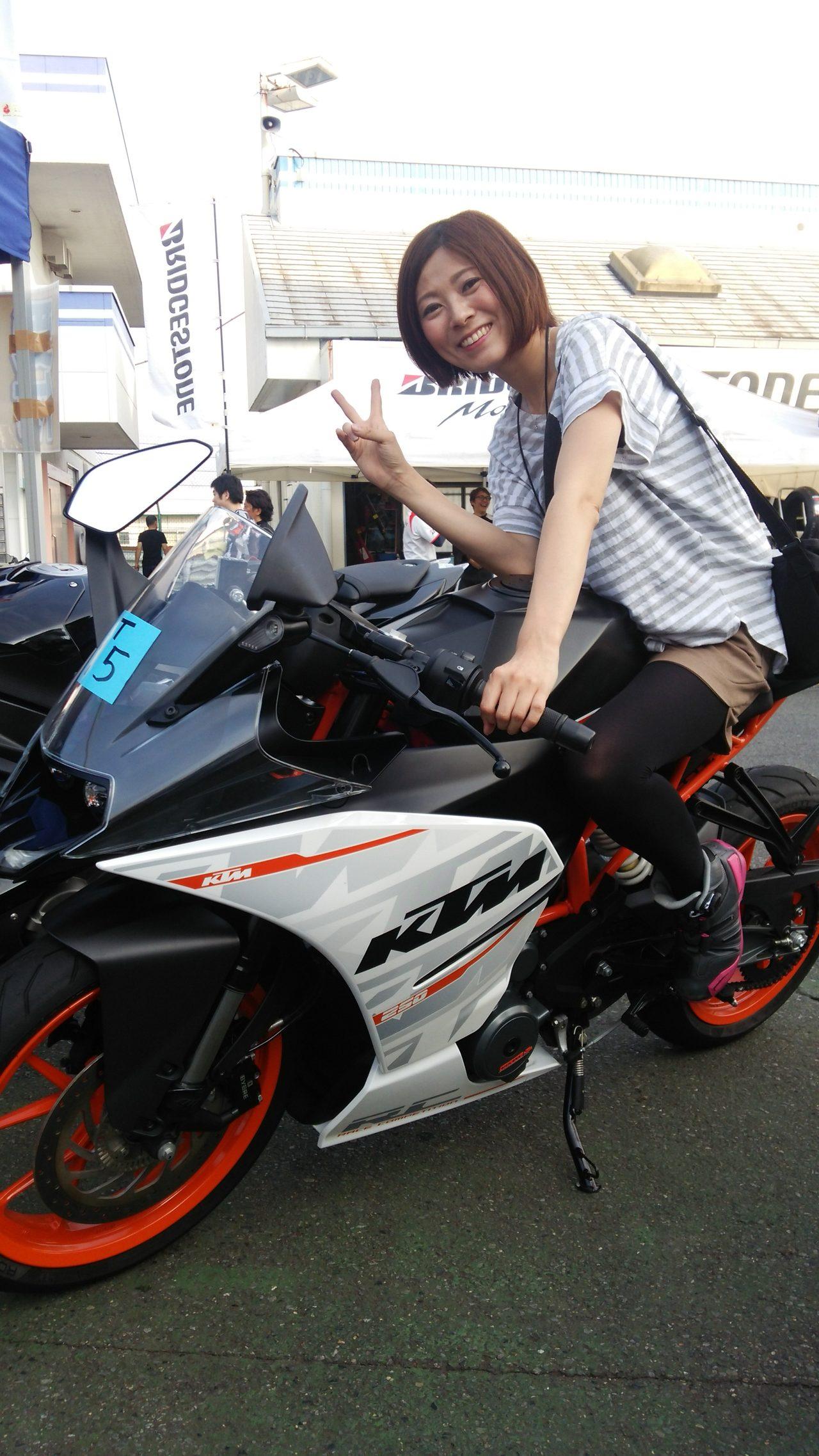 画像3: 先川知香的インプレッション!KTM【RC250】に乗ってみた。