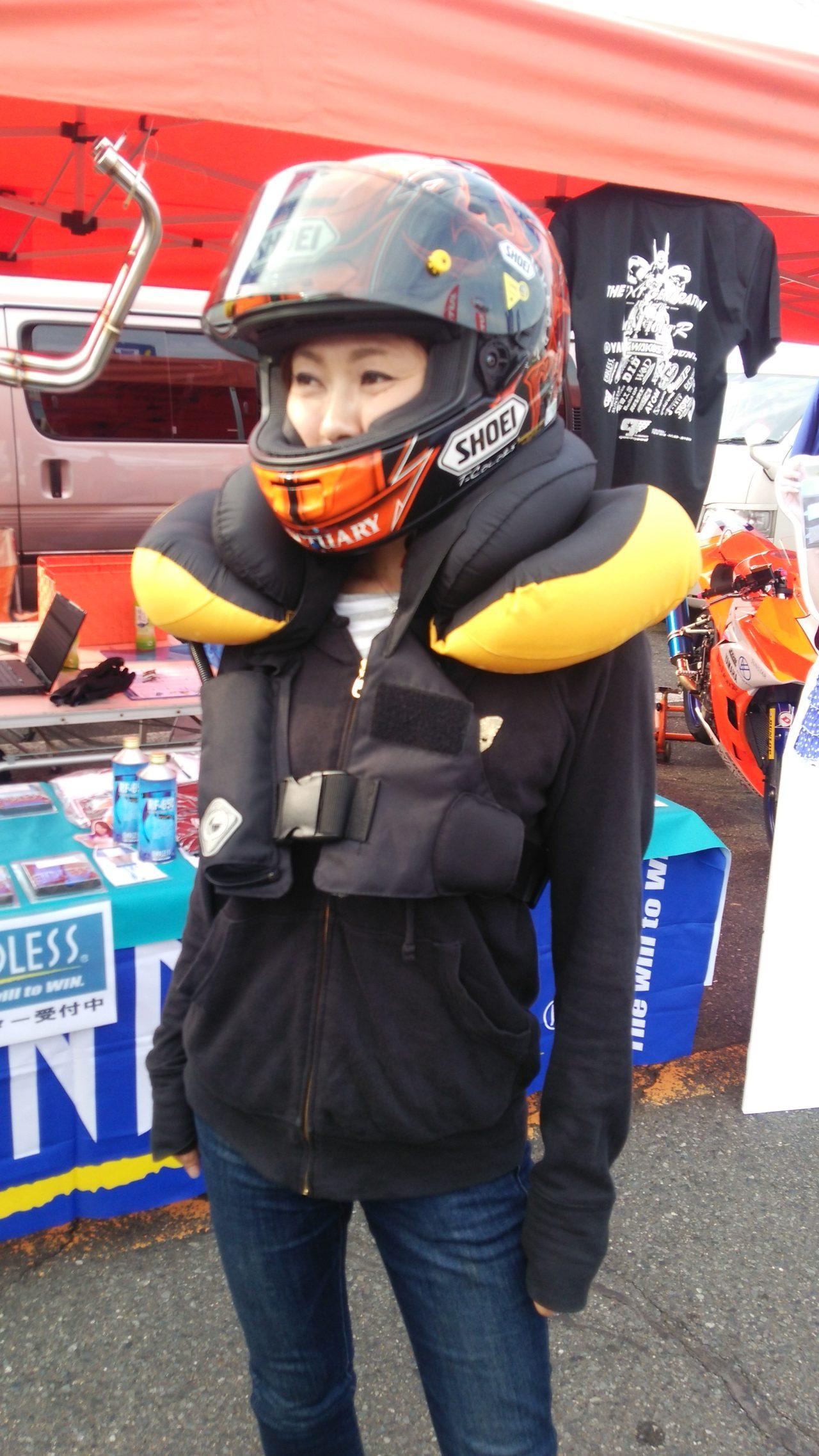 画像4: 事故の衝撃を少しでも減らす為に!!バイク用着るhit-air Neck Airbagを使ってみよう。