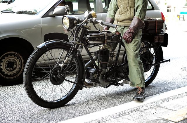 画像: 横浜元町で見かけた... 1926年製 A.J.S !!!!