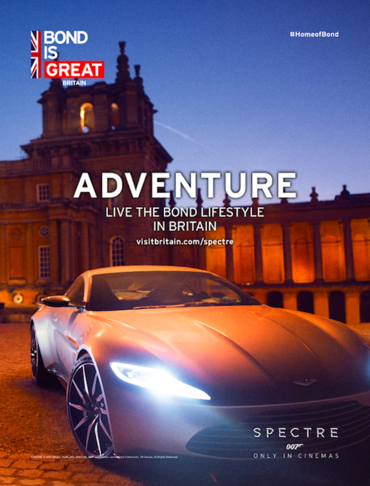 画像1: キャンペーン専用ページ VisitBritain.com/spectre で『007 スペクター』の舞台裏の映像を紹介し、さらに「Bond is GREAT」の画像も新たに公開!