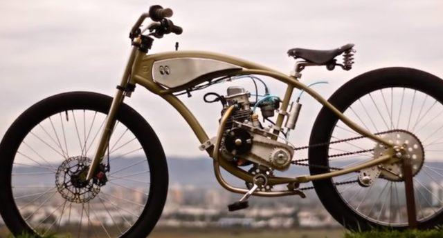 画像: 米国カスタムビルダー Wolf Creative Customsの、エンジン付き自転車!
