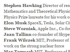 画像: イーロン・マスク氏、ホーキング博士、ウォズニアック氏ら、AI自律型兵器禁止を呼び掛け
