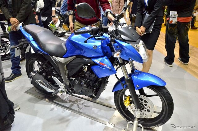 画像: 【東京モーターショー15】インドで人気のスズキ ジクサー、日本でもヒットの予感?
