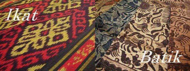 画像: インドネシア伝統の織物 イカットとバティック www.balisari.com