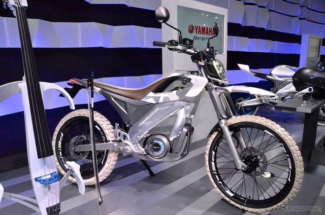画像: 【東京モーターショー15】環境に優しく走りも楽しい、ヤマハの電動トレッキングバイク