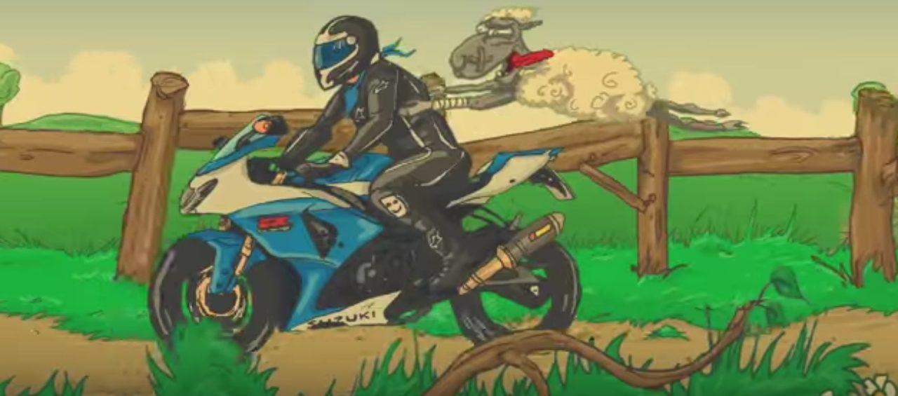 画像2: 愛車は「スズキ GSX-R1000(K9)」です。ヘルメット男子の悲劇の動画!!