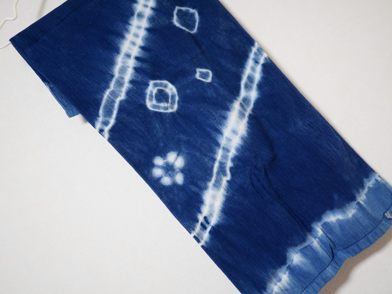 画像: 藍染をしたタオル