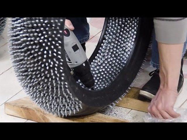 画像: 見た目は派手だけど作業はめっちゃ地味!!!wトゲトゲなスパイクタイヤの作り方! - LAWRENCE(ロレンス) - Motorcycle x Cars + α = Your Life.