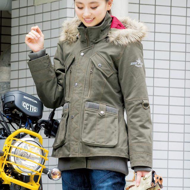 画像: ミリタリーウインタージャケット(カーキ)¥35,424 (税抜: ¥32,800) www.j-amble.com