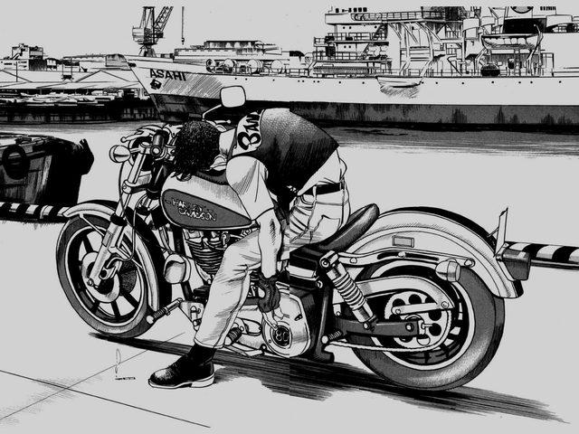 画像: バイクにまたがったまま、昏睡状態に陥るケンタ