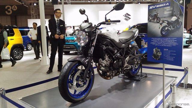 画像: 【名古屋モーターショー15】スズキ、海外向けロードバイク SV650 を日本初公開