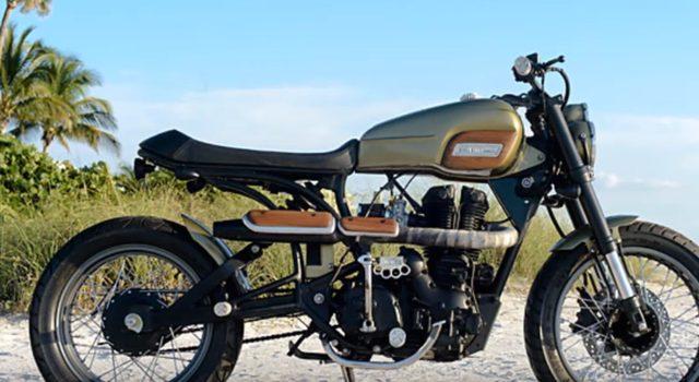 画像: ロイアルエンフィールド AVL 350のスクランブラー。 www.youtube.com