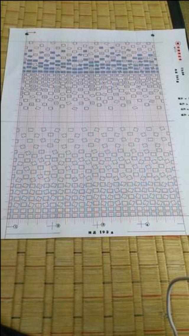 画像: 柄を表した図案 tsumugiseinenbu.amamin.jp
