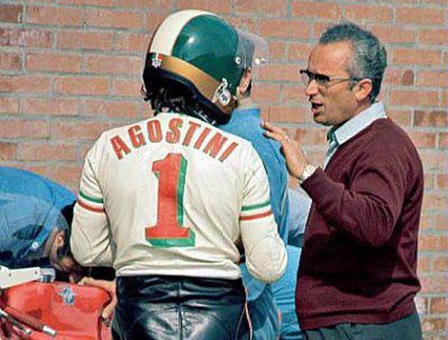 画像: イモラ200マイルレース用のF750レーサーのテスト時に写された、アゴスチーニとマーニの姿。 www.gpone.com