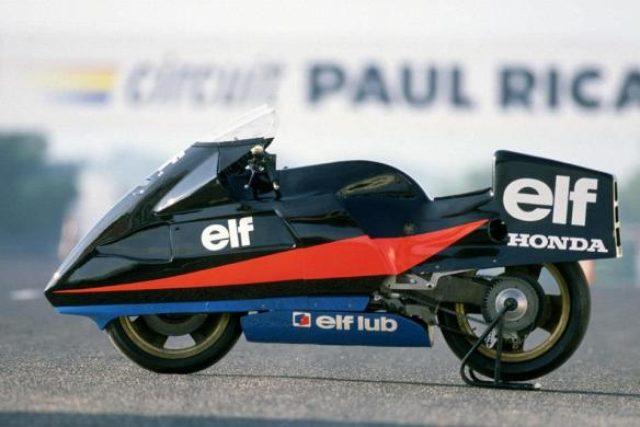 画像: ELF R 1986 1983年にレースの場から退役したELF eをベースに開発された、速度記録挑戦車です。イタリア・ナルドサーキッ トで6つの分野の世界速度記録の更新に成功しました。 didierconstant.files.wordpress.com