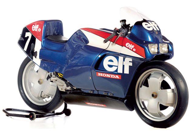 画像: ELF e 1980-1983 ホンダとの協力関係が築かれたことにより、このELF e 以降のモト・エルフはホンダエンジンを採用するようになります。耐久選手権用に開発されたELF eは、鈴鹿8時間耐久にも参加し ました。1983年にレギュレーションが1000ccから750ccへ減少したことをうけて、エルフは次のステージである世界ロードレースGPに開発の場を移すことになりました。 www.elfmoto-lub.jp