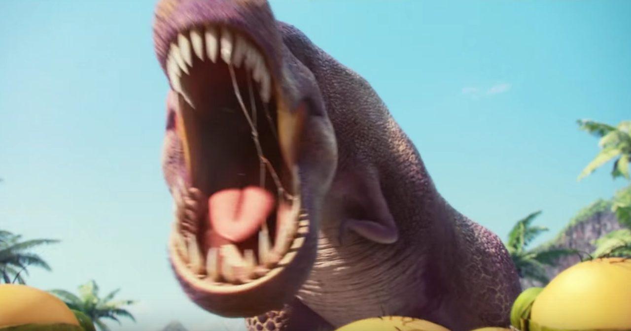 画像: 凶暴なティラノザウルスはマグマに呑まれ・・・ minions.jp