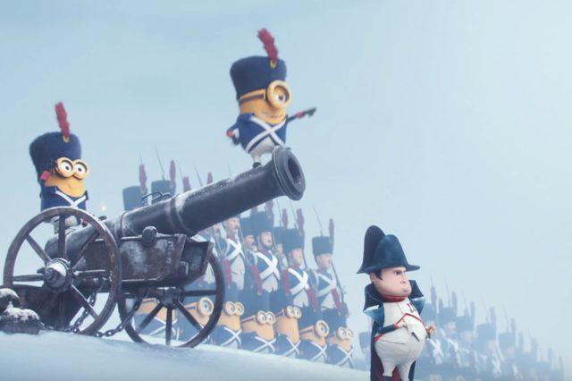 画像: ナポレオン??は大砲で吹っ飛ばされてしまう minions.jp