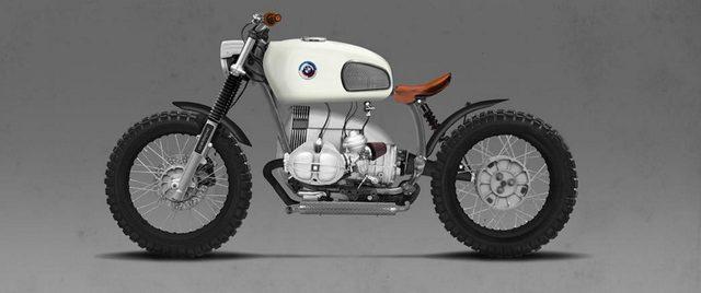 画像: 白と茶と黒。落ち着いたカラーリングだけど、エンジン周りの白が生きていて、とてもポップ www.vagabund-moto.at