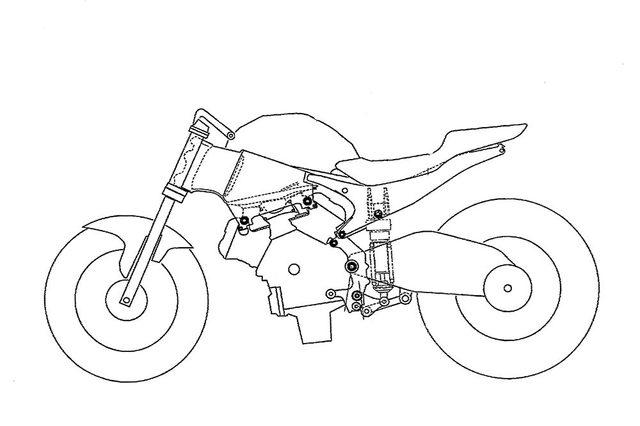 画像: こちらもMCNが記事に掲載した、ホンダがパテント登録した新しいV4用シャシーのイラスト。モノコックフレームに、アルミ鋳造のシートレール部が合体する構造です。この技術が、新しいV4スーパースポーツに使われることになるのでしょうか? images.mcn.bauercdn.com