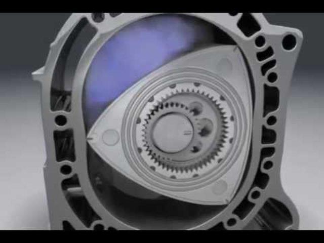 画像: ロータリーエンジンの内部構造をCGで再現 youtu.be