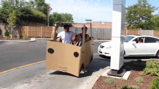 画像: Carboard Car Drive-Thru Featuring Sergio Razta youtu.be