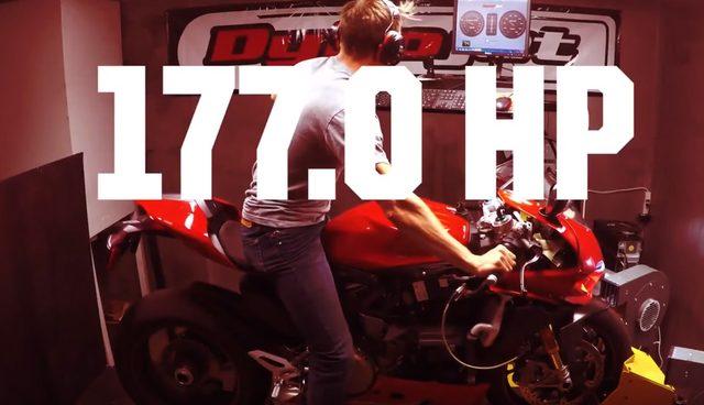 画像: DUCATI 1299 PANIGALE。後輪出力177馬力。 www.youtube.com