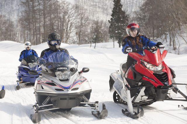 画像1: 雪上バイクのような印象を持っていたスノーモビルの異次元の走りに大興奮[樹林ツアー編]