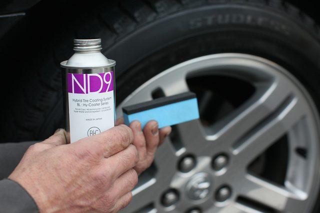 画像1: 本物、且つ究極のタイヤコート : ND9 タイヤ、及びゴム製品に高度な変形追従性を有し、優れた密着性を示すまさに夢のハイブリット塗料 : ND9。塗膜が硬化した後は、タイヤ表面にゴム本来の自然.... www.so-bad-review.com