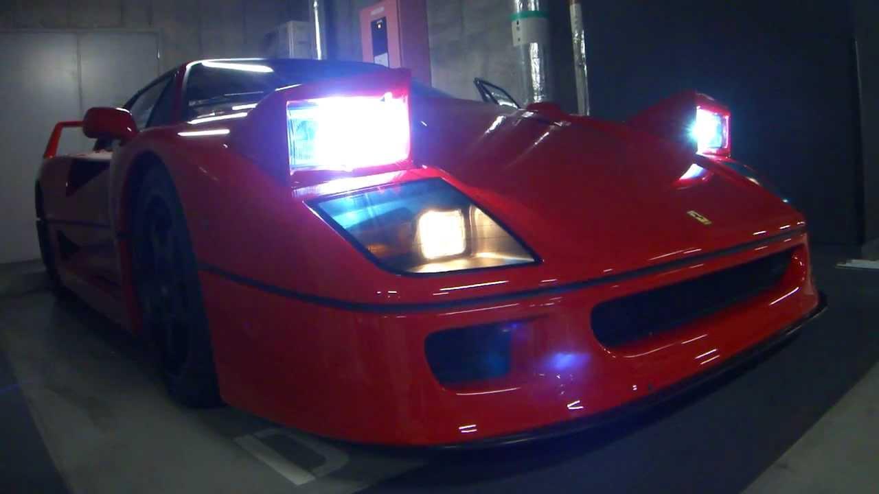 画像: フェラーリ F40 エンジンスタート (start the engine of Ferrari F40) www.youtube.com
