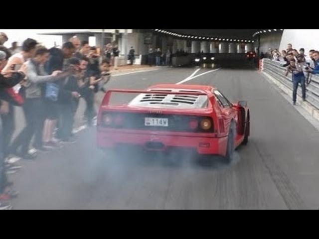 画像: Ferrari F40 in Action: Burnout and awesome Backfire Sound! www.youtube.com