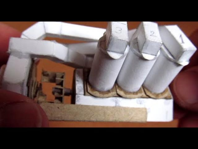画像: V6 engine working paper model youtu.be