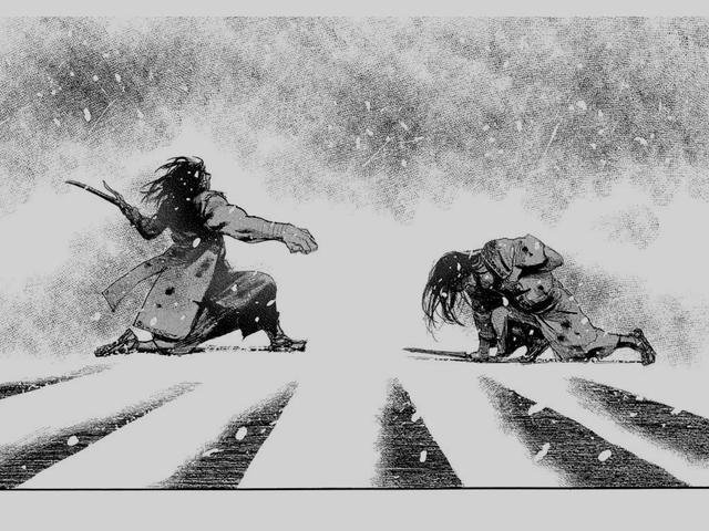 画像: 敵のボスキャラ 天津影久との最後の決戦に挑む万次 www.amazon.co.jp