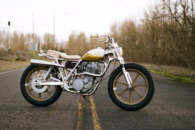 画像: Yamaha SR500 Custom by One Down Four Up www.youtube.com