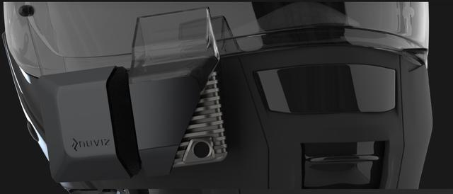 画像: どうやらヘルメットのシールドの前の辺りに装着するようです www.ridenuviz.com